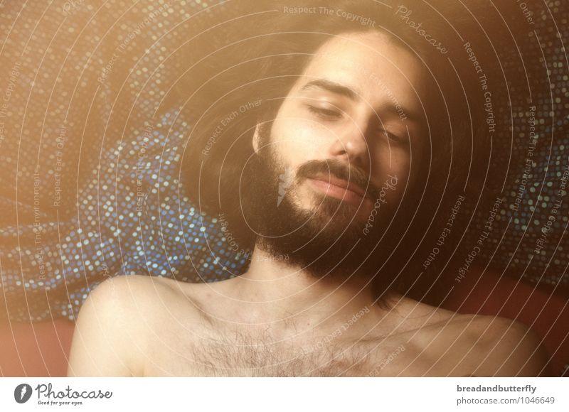 MMh Mensch Jugendliche Mann schön Junger Mann 18-30 Jahre Ferne Erwachsene Gesicht Denken Haare & Frisuren außergewöhnlich Kopf träumen maskulin Behaarung