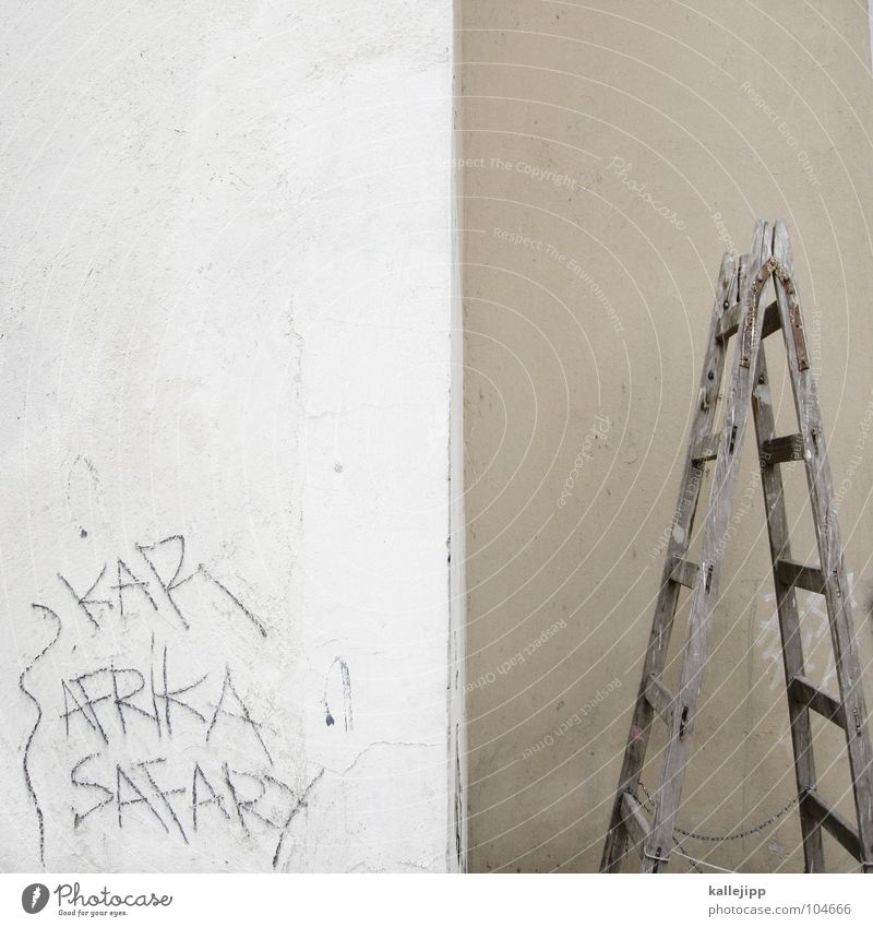 afrika safary Wand Graffiti dreckig Baustelle Bauernhof Handwerk Leiter Karriere Ärger Hälfte Teile u. Stücke Safari Standort Bla Tagger Vandalismus