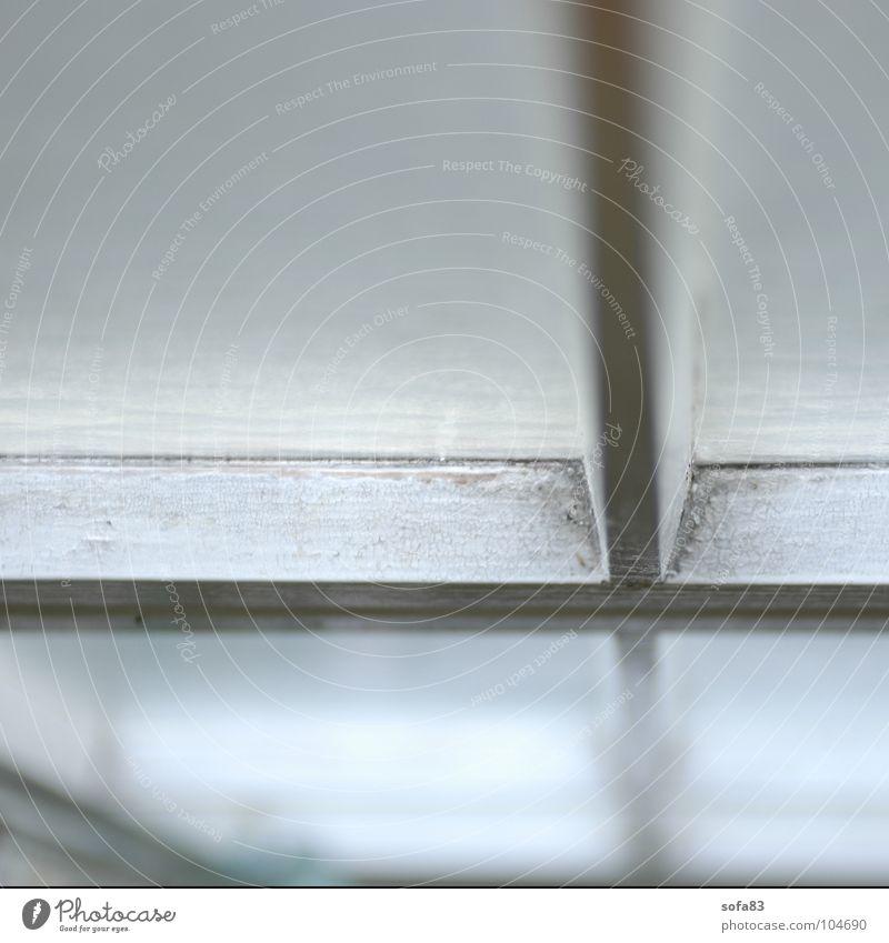 undurchsichtig weiß ruhig Fenster hell Geometrie Rahmen streben Fensterrahmen