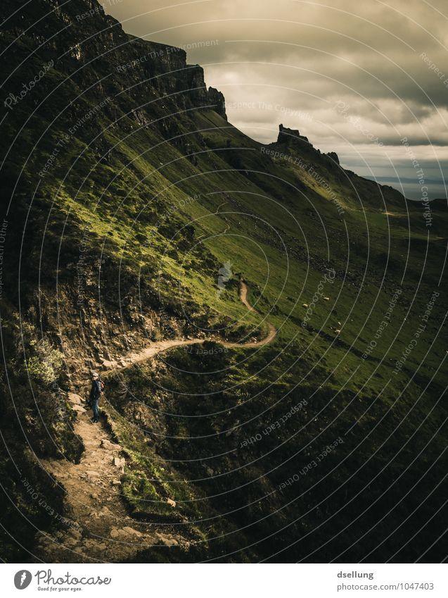 the serpent. Ferien & Urlaub & Reisen Abenteuer Ferne Freiheit Berge u. Gebirge wandern Landschaft Himmel Wolken Frühling Sommer Herbst Wetter Wiese Feld Hügel