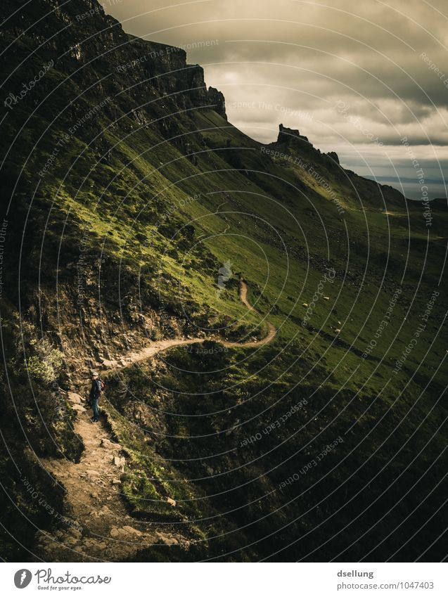 the serpent. Himmel Ferien & Urlaub & Reisen Sommer grün Landschaft Wolken Ferne dunkel Berge u. Gebirge kalt Herbst Frühling Wiese Wege & Pfade Küste Freiheit