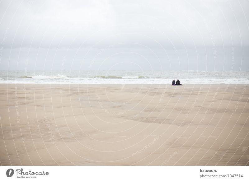 mehr. Leben Zufriedenheit Sinnesorgane Erholung ruhig Ferien & Urlaub & Reisen Tourismus Ausflug Ferne Freiheit Strand Meer Wellen Mensch Paar Partner Sand