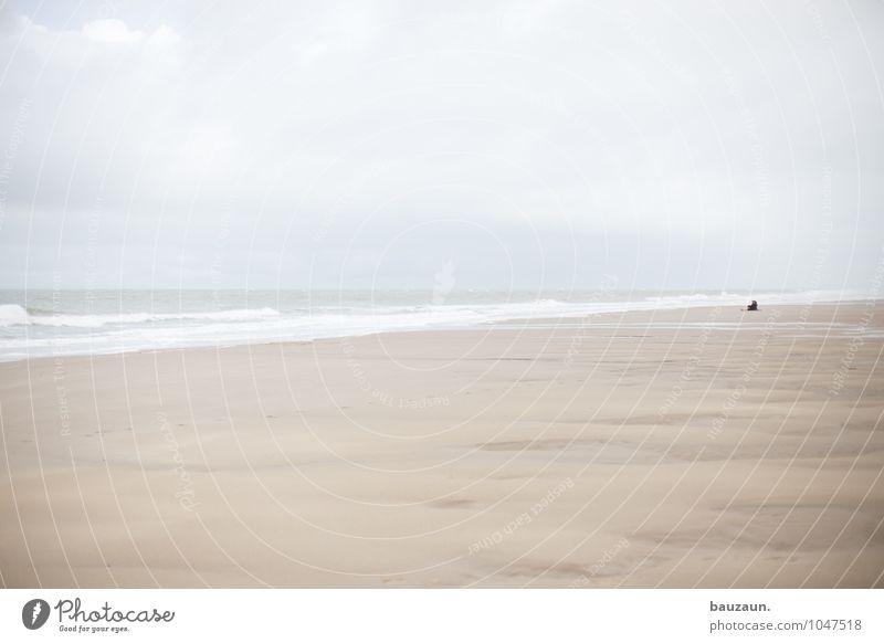 mehr meer. Mensch Himmel Natur Ferien & Urlaub & Reisen Erholung Meer ruhig Wolken Strand Ferne Küste Glück Freiheit Sand Paar träumen
