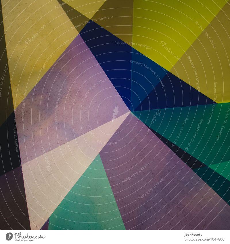 Sortiment Farbraum Stil Design Strukturen & Formen Dreieck Ecke ästhetisch eckig trendy einzigartig modern violett Kraft Einigkeit Genauigkeit innovativ