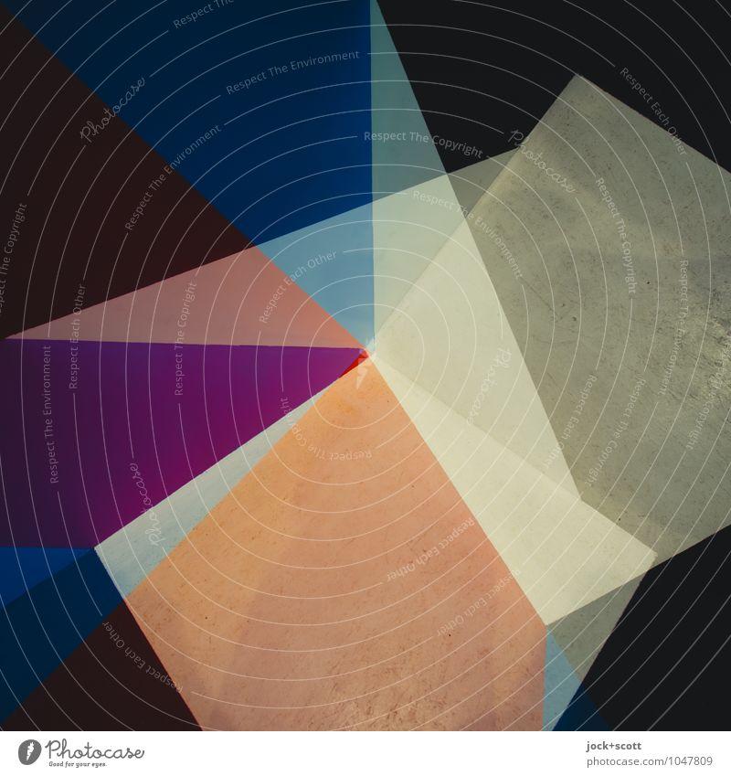 Spektrum Stil Design Grafik u. Illustration Dekoration & Verzierung Ornament Strukturen & Formen Dreieck Ecke diagonal eckig fest trendy einzigartig modern