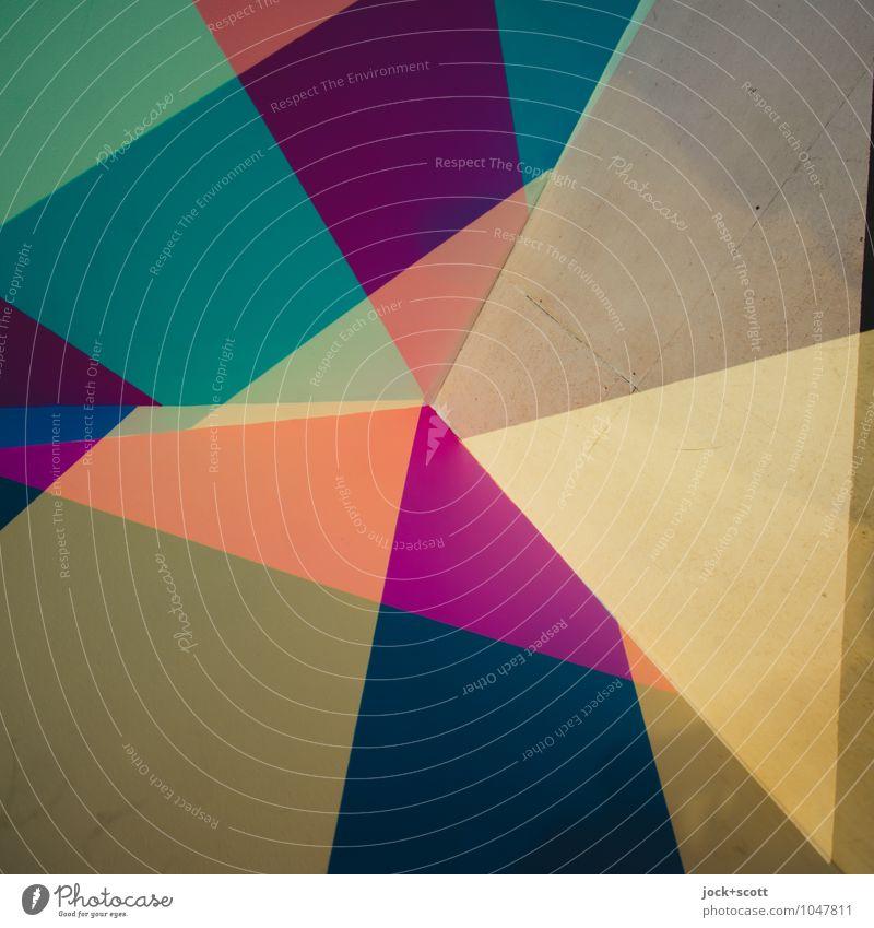 Potpourri Farbraum Design Grafik u. Illustration Dekoration & Verzierung Netzwerk Dreieck Strukturen & Formen Ecke eckig fest trendy einzigartig modern