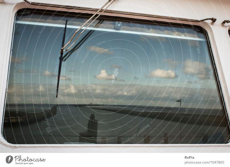 Norden Ausflug Sommerurlaub Meer Technik & Technologie Umwelt Landschaft Wasser Himmel Wolken Horizont Wetter Schönes Wetter Küste Bucht Nordsee Kleinstadt