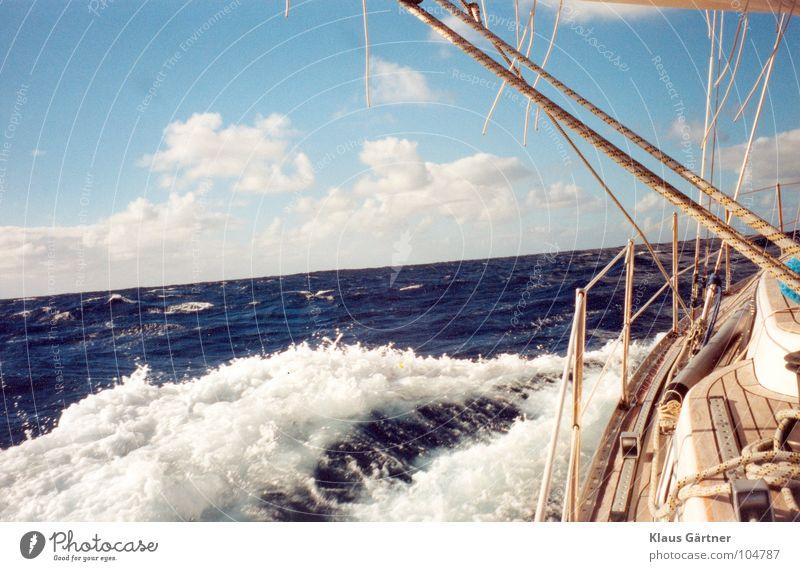 Go West - über den Atlantik nach St. Lucia Meer Wellen Segeln Segelboot Wassersport