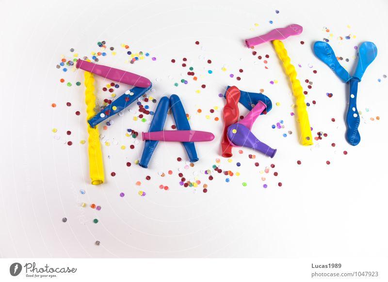 Konfetti Party Freude Glück Feste & Feiern Freizeit & Hobby Fröhlichkeit Tanzen Luftballon Karneval Euphorie Club Ballone Disco blasen Begeisterung