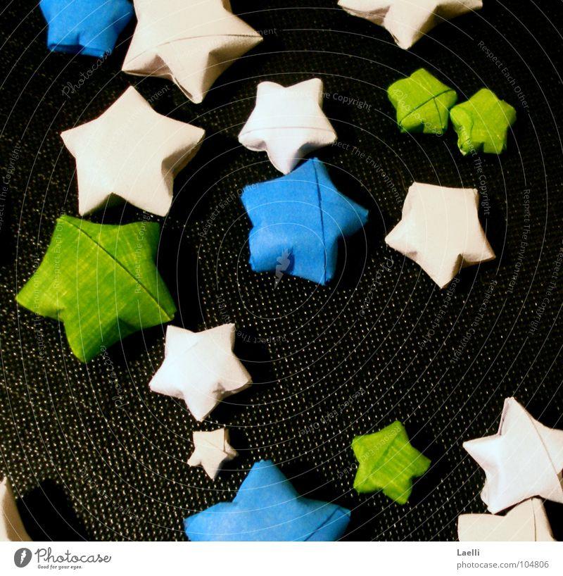 Sternenregen weiß grün blau schwarz dunkel hell Stern (Symbol) Himmelskörper & Weltall