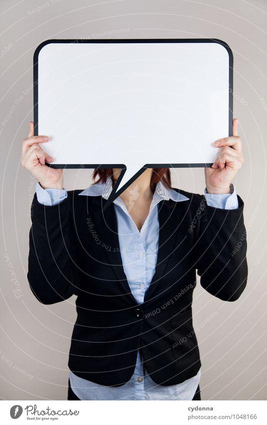 Meinungsbildung Mensch Jugendliche Junge Frau 18-30 Jahre Erwachsene sprechen Business Büro Erfolg Textfreiraum Zukunft Studium Idee planen Sicherheit Bildung