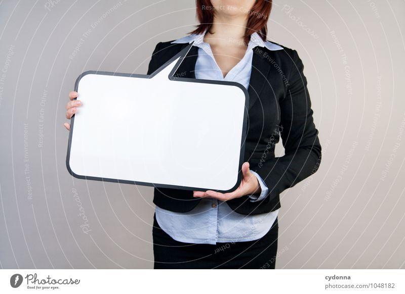 Klare Worte Bildung Berufsausbildung Büroarbeit Wirtschaft Kapitalwirtschaft Business Karriere Erfolg sprechen Mensch Junge Frau Jugendliche 18-30 Jahre