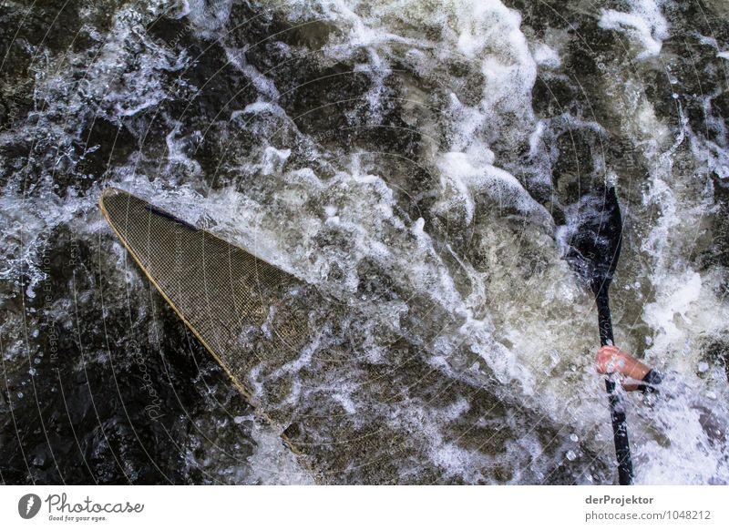 Wassersport im Strömungskanal Ferien & Urlaub & Reisen Sport Sportler Umwelt Natur Wellen Bach Fluss Bootsfahrt Sportboot Ruderboot Gefühle Tapferkeit