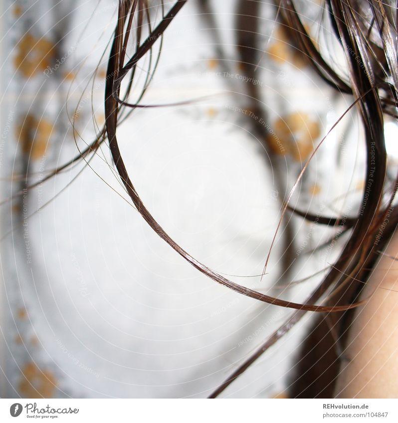 haar-ensemble 7 krause Haare zerzaust kalt Haare & Frisuren Wellness Wellen braun grün langhaarig gewaschen nass feucht Friseur Schwimmbad Haarschnitt Bad