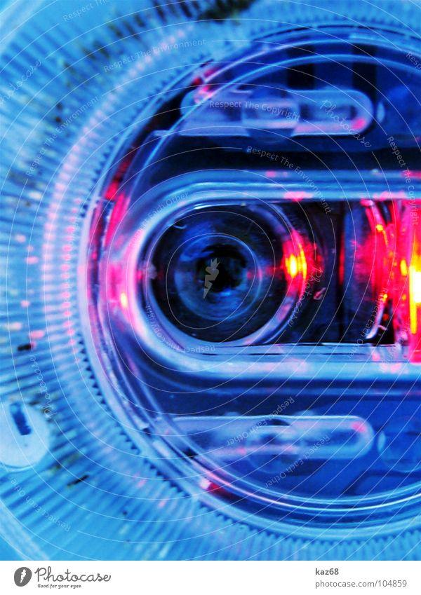 terminator Licht rund Kreis schwarz Maschine Technik & Technologie blau Glas