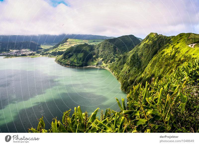 Furnas-See auf den Azoren Natur Ferien & Urlaub & Reisen Pflanze Sommer Meer Landschaft Tier Ferne Berge u. Gebirge Umwelt Gefühle Tourismus Feld Wellen Insel