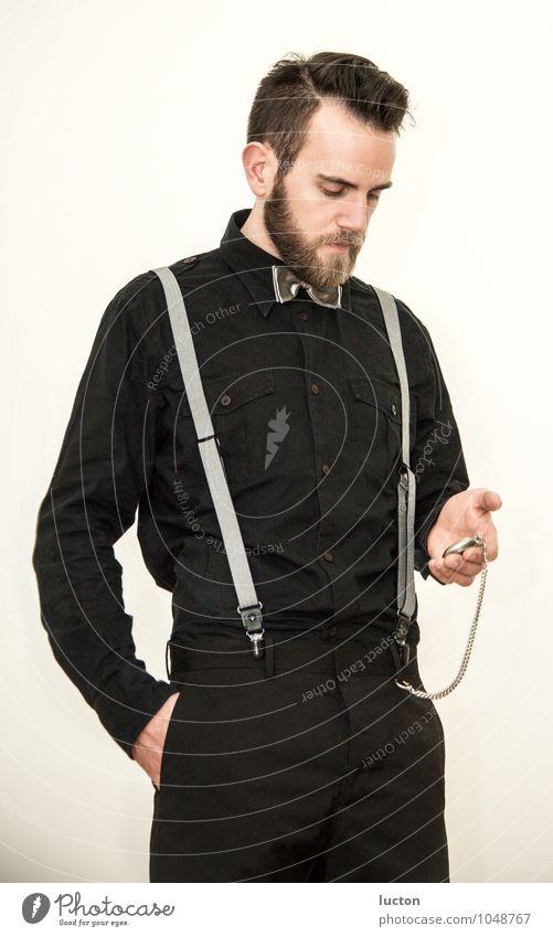 Zeit ist relativ Vol.2 Mensch Jugendliche weiß ruhig Junger Mann 18-30 Jahre schwarz Erwachsene braun Mode maskulin einzigartig Coolness festhalten Bart Hemd