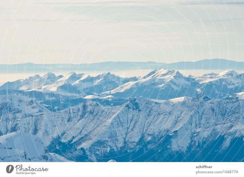 Im Westen nichts Neues Natur blau Landschaft Ferne kalt Umwelt Berge u. Gebirge Felsen Horizont Eis Wetter Klima Aussicht Schönes Wetter Gipfel Frost