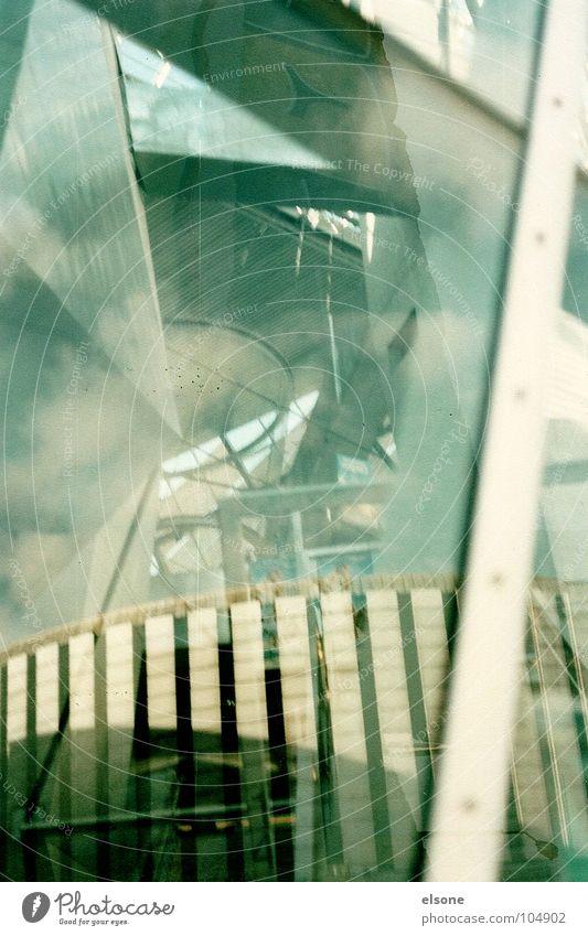 experiment Dresden Haus Kino Palast Aluminium Stahl Ecke Beton durchsichtig Aussicht Spiegel träumen traumhaft beige grau glänzend vertikal Gebäude 2 Experiment