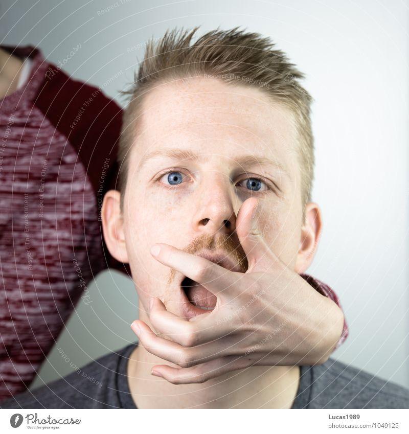 Sprechverbot Mensch Frau Jugendliche Mann Junge Frau Hand Junger Mann 18-30 Jahre Erwachsene Gesicht feminin sprechen Kopf Paar maskulin blond