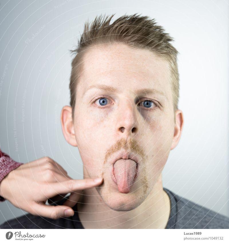 kratziger Bart? Mensch maskulin Junge Frau Jugendliche Junger Mann Erwachsene Paar Kopf Gesicht Hand Finger Zunge 1 2 18-30 Jahre Haare & Frisuren blond