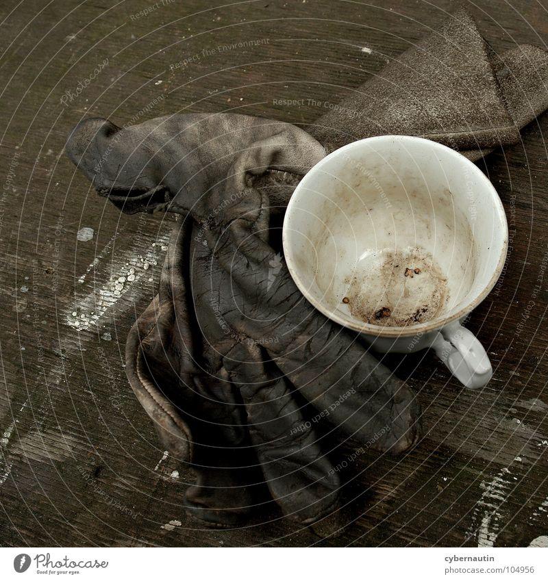stilvolle Kaffeepause ... Arbeit & Erwerbstätigkeit Pause Baustelle Tasse Handwerk bauen Handwerker Handschuhe Kaffeetasse Arbeitshandschuhe