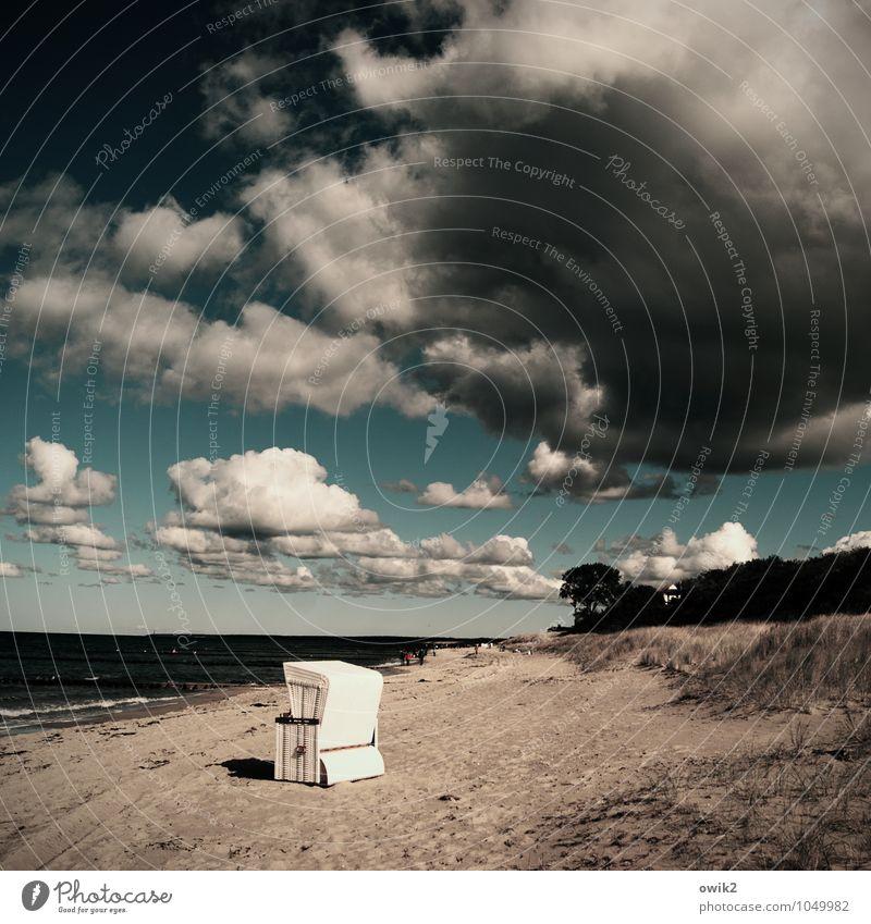 Sandkasten Mensch Himmel Natur Ferien & Urlaub & Reisen Wasser Baum Landschaft Wolken Ferne Strand Umwelt Küste Freiheit Horizont Tourismus