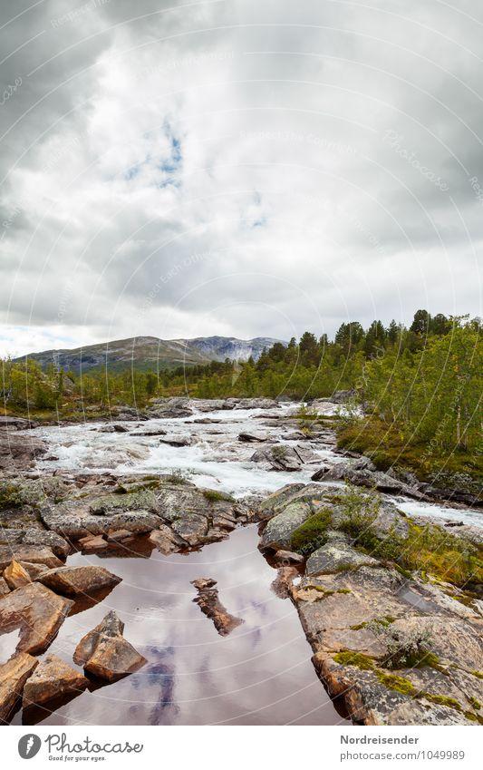 Reinheimen Himmel Natur Ferien & Urlaub & Reisen Sommer Einsamkeit Landschaft Wolken Wald Berge u. Gebirge natürlich Freiheit Felsen Idylle Trinkwasser Klima
