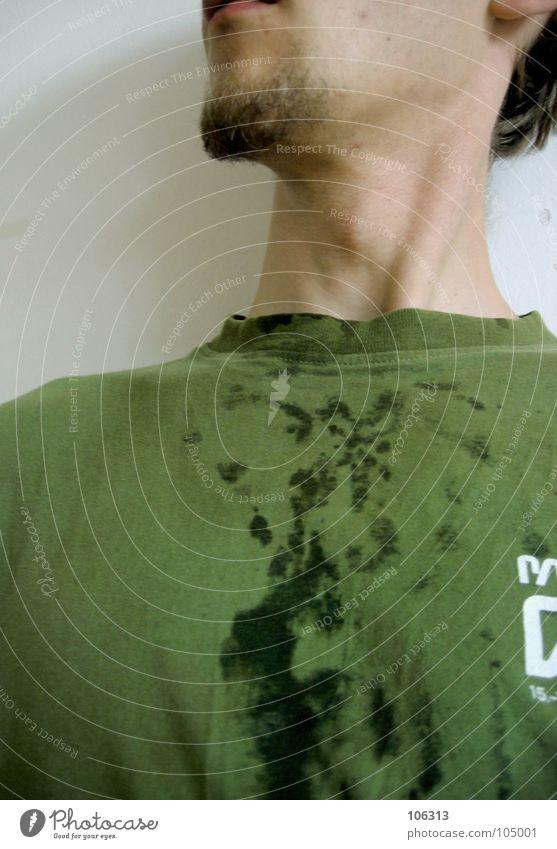 WET T-SHIRT CONTEST [STAND-ALONE] Schweiß transpirieren nass feucht grün Hemd Bekleidung bespritzt spritzen Dreckspatz Ferkel Schwein anstößig Bart T-Shirt