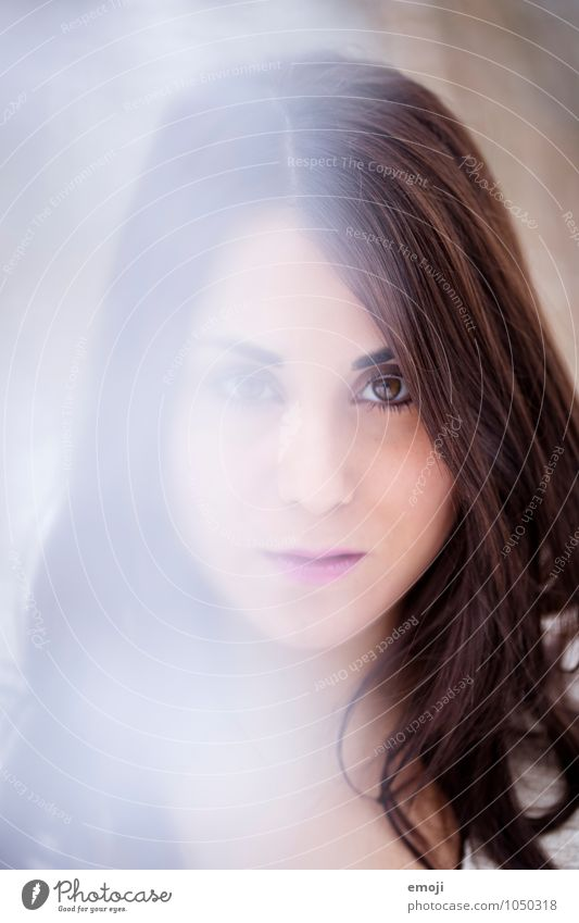 un-scharf feminin Junge Frau Jugendliche Kopf Gesicht 1 Mensch 18-30 Jahre Erwachsene schön Schleier Farbfoto Außenaufnahme Nahaufnahme Tag Unschärfe