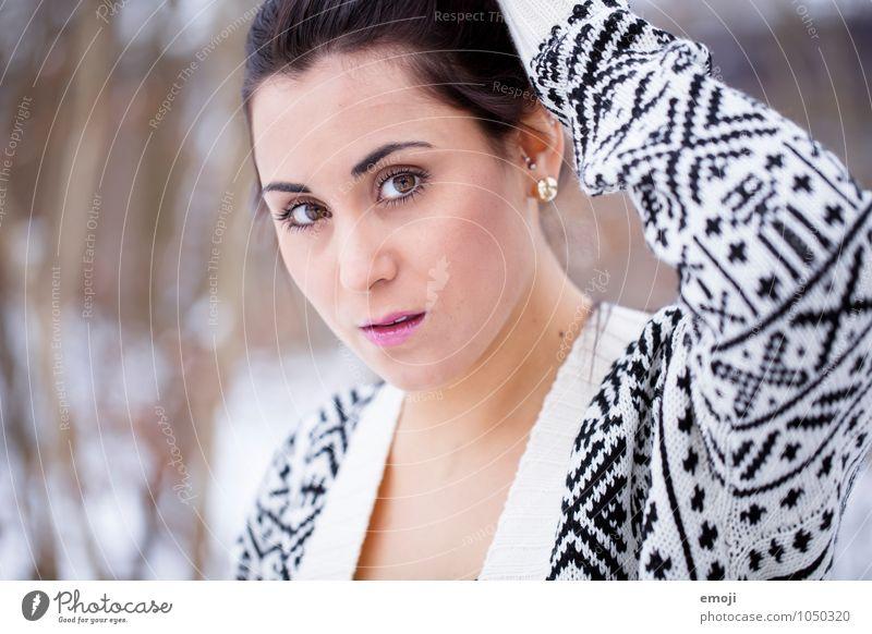 gemustert mustern feminin Junge Frau Jugendliche Kopf 1 Mensch 18-30 Jahre Erwachsene schön Farbfoto Außenaufnahme Tag Schwache Tiefenschärfe Porträt
