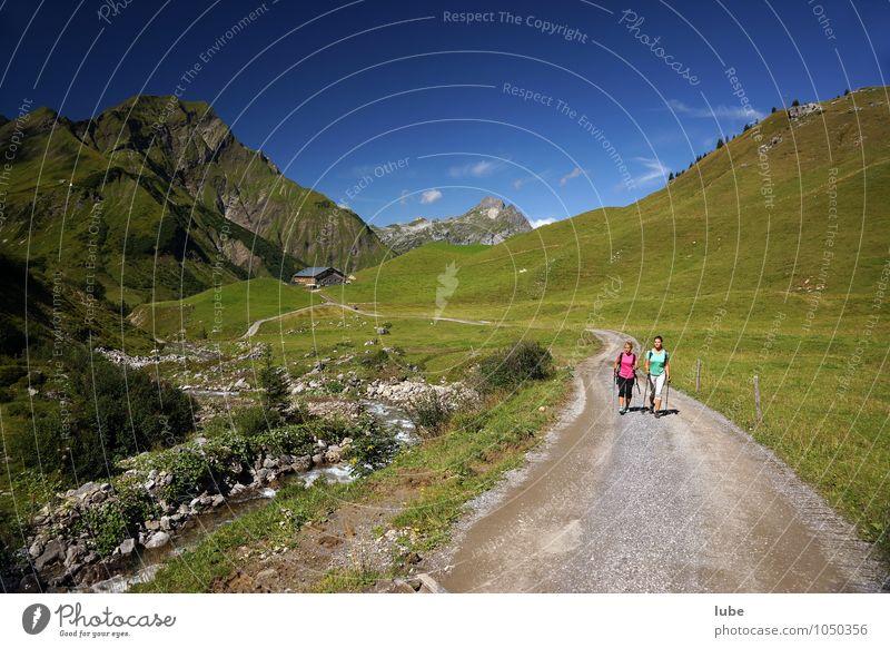 Wandertag 3 Natur Ferien & Urlaub & Reisen Sommer Sonne Landschaft Ferne Berge u. Gebirge Umwelt Straße Wege & Pfade Freiheit Felsen Tourismus Wetter wandern