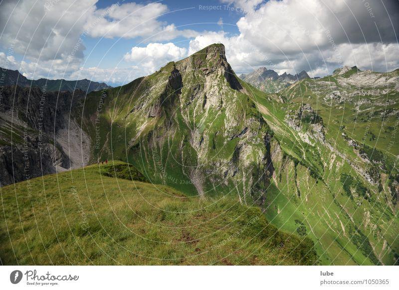Rothorn Ferien & Urlaub & Reisen Tourismus Ausflug Ferne Freiheit Sommer Berge u. Gebirge wandern Umwelt Natur Landschaft Wolken Klima Wetter Schönes Wetter