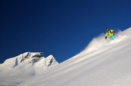 Freerider 3 Mensch Natur blau weiß Landschaft Winter Umwelt Berge u. Gebirge Schnee Sport Eis Tourismus Klima Schönes Wetter Gipfel Frost