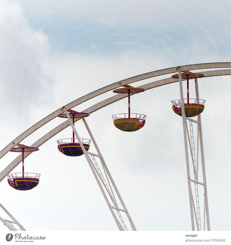 Riesenrad Himmel Erholung Freude Spielen Freizeit & Hobby Kreis Hütte Rad Tradition Jahrmarkt Konstruktion Festspiele Sitz Entertainment rotieren kreisen