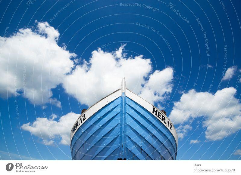 weiß blaue freiheit Himmel Ferien & Urlaub & Reisen Sommer Meer Wolken Strand Ferne Küste Wasserfahrzeug Tourismus Insel Ausflug Beginn