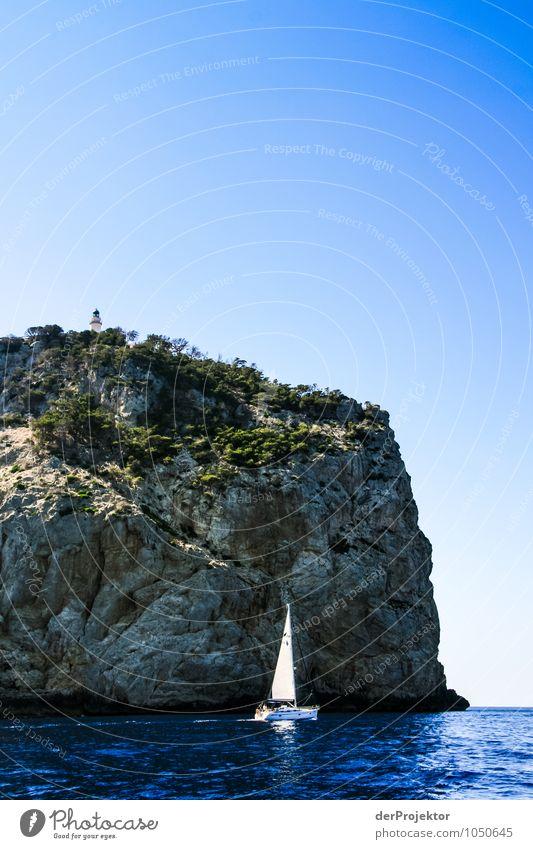 Segeln um Mallorca Ferien & Urlaub & Reisen Tourismus Ausflug Abenteuer Ferne Sommerurlaub Umwelt Natur Landschaft Pflanze Tier Urelemente Wolkenloser Himmel