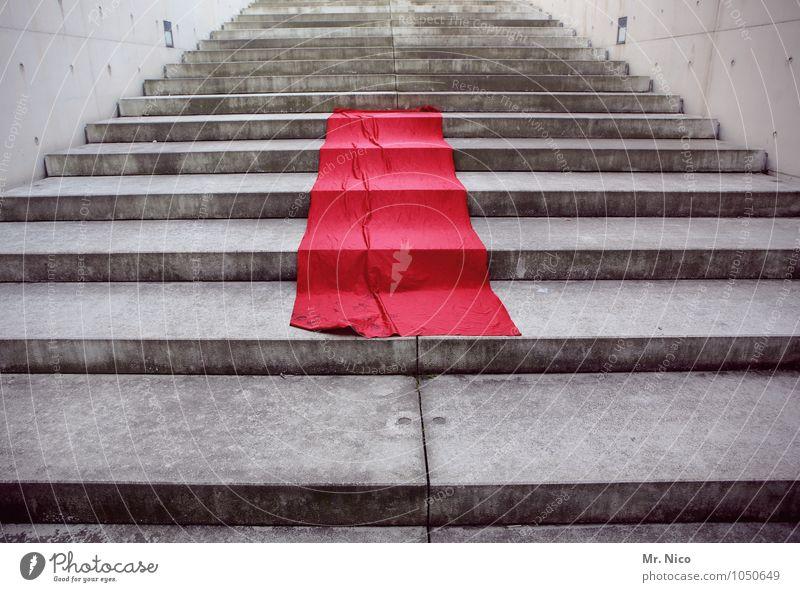 simply red rot Wand Architektur Stil Mauer grau Feste & Feiern Lifestyle Kunst Business Treppe elegant Erfolg Beton einzigartig Show