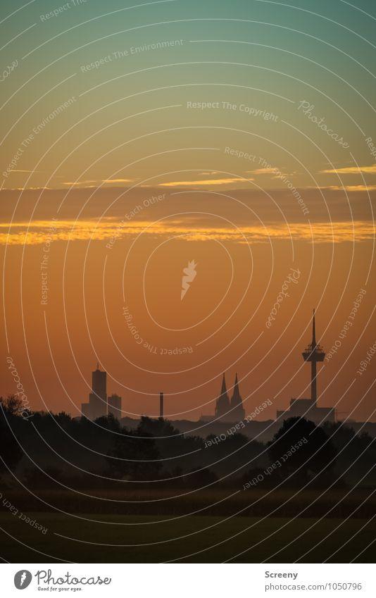 Guten Morgen, Köln #1 Umwelt Himmel Wolken Sonnenaufgang Sonnenuntergang Sommer Schönes Wetter Bundesadler Stadt Skyline Hochhaus Dom Turm Sehenswürdigkeit