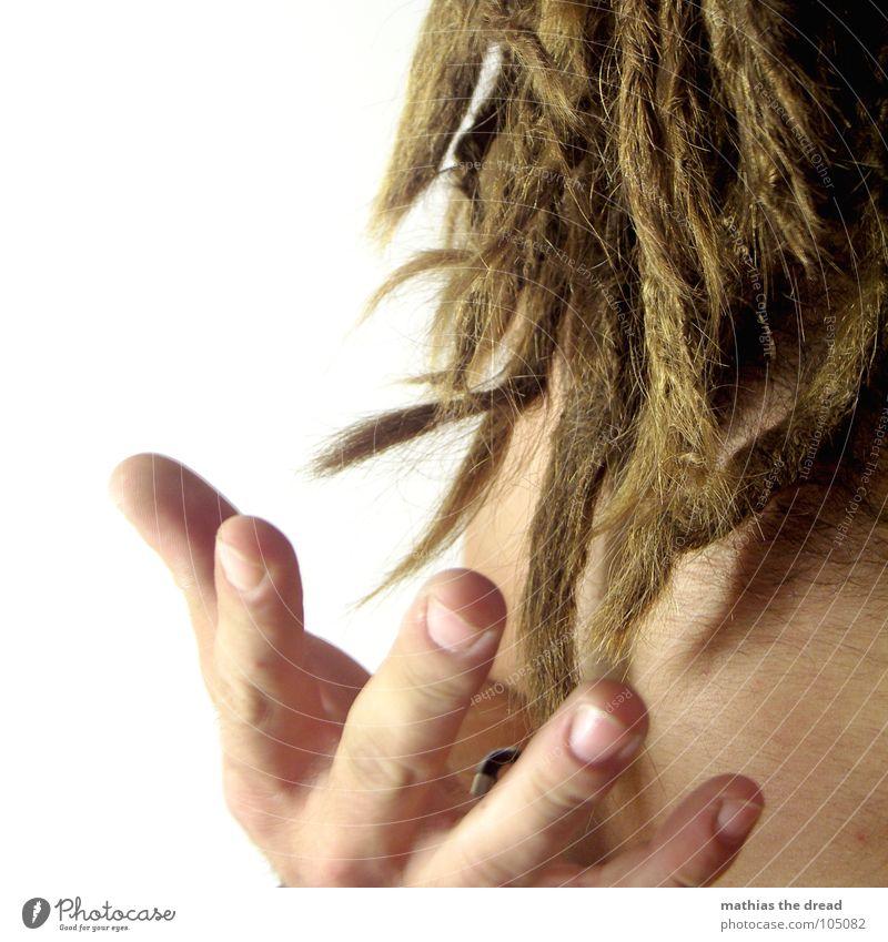 Dreads Rastalocken Hand Finger Nagel Fingernagel offen Mann maskulin urig authentisch dreadlock enden Spitze Haare & Frisuren fangen Haut körperhaare
