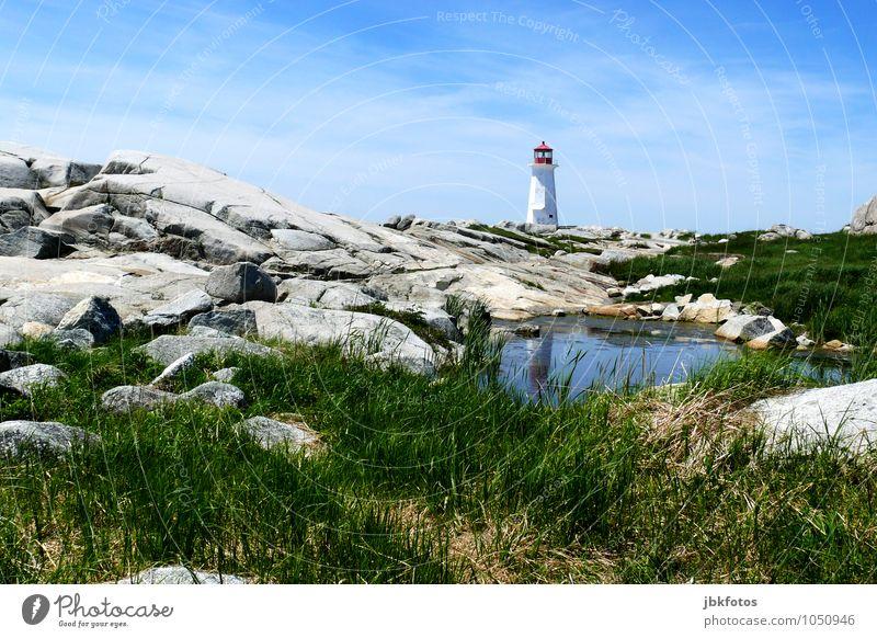Leuchtturmromantik Umwelt Natur Landschaft Schönes Wetter Küste Meer Atlantik ästhetisch Bekanntheit Leuchtfeuer leuchten peggy´s cove Außenaufnahme
