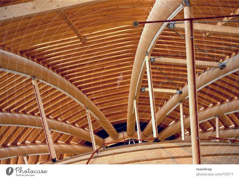 kuppel Holz Architektur Kuppeldach Balken