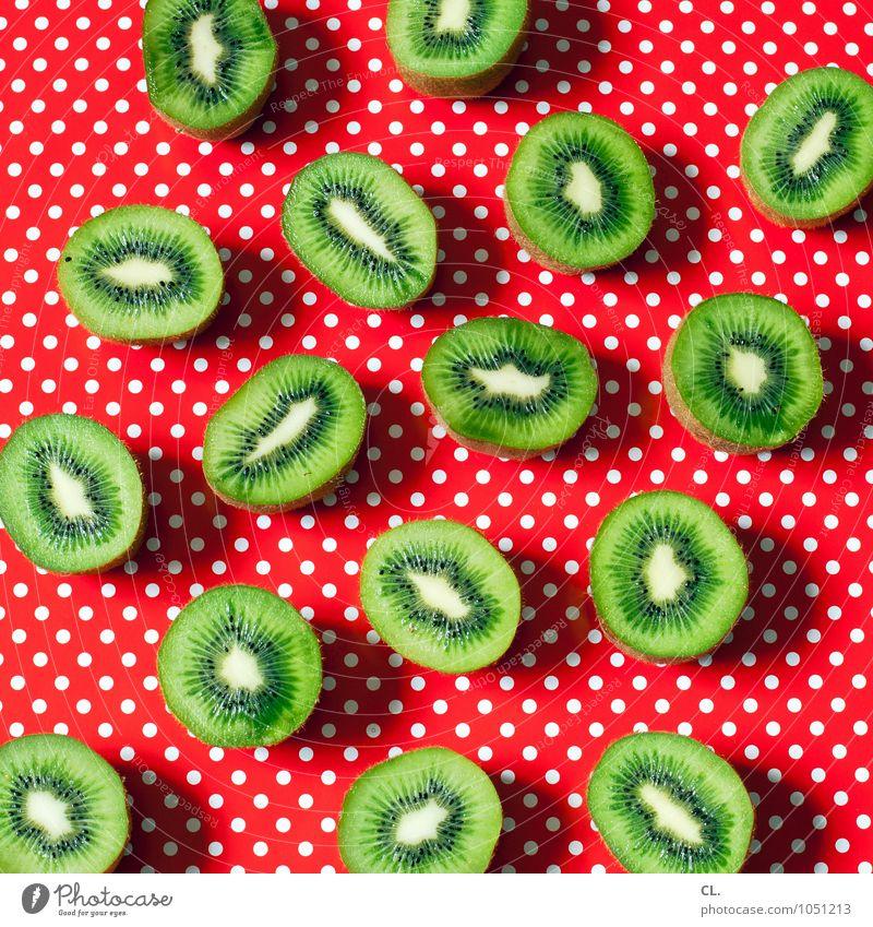 fruit ninja Lebensmittel Frucht Kiwi Ernährung Essen Vegetarische Ernährung Diät Fasten Punkt ästhetisch Fröhlichkeit frisch Gesundheit lecker grün rot Farbe