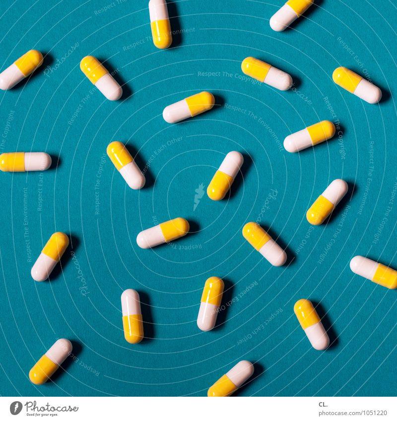pillepalle blau weiß gelb Gesundheit Gesundheitswesen ästhetisch Krankheit Medikament Tablette Behandlung Super Stillleben