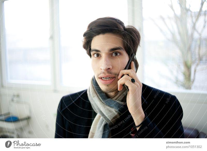 Überraschung Tod Angst Business Technik & Technologie gefährlich Telekommunikation Neugier Telefon Todesangst Sehnsucht Zukunftsangst Handy Stress Verzweiflung