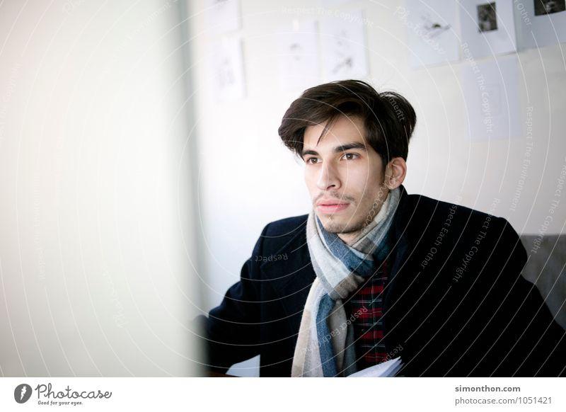 Stress lernen Berufsausbildung Azubi Praktikum Studium Student Arbeitsplatz Büro Business Unternehmen Karriere maskulin 1 Mensch anstrengen Beratung Bildung