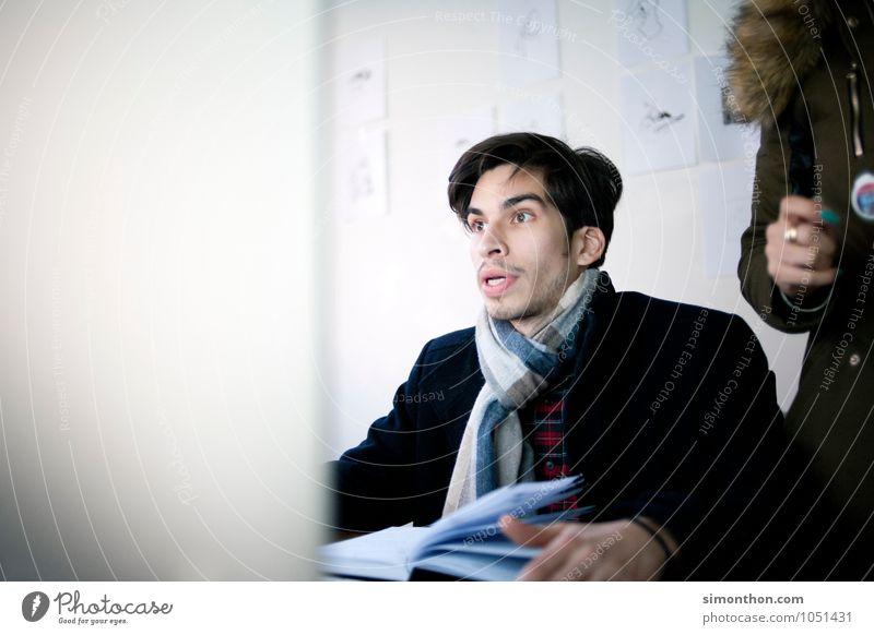 Entsetzen Mensch sprechen maskulin Business Büro Vergänglichkeit lernen Todesangst Student Schmerz Stress Konflikt & Streit Verzweiflung Sorge Karriere Teamwork