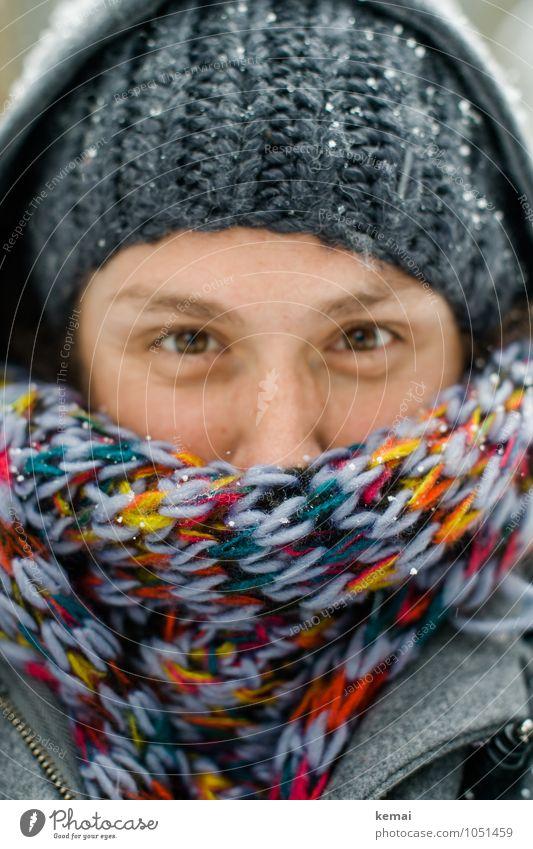 MitOhne Mensch Frau Winter Erwachsene Auge Wärme Leben Schnee feminin Stil Lifestyle Eis Bekleidung Nase Frost Mütze