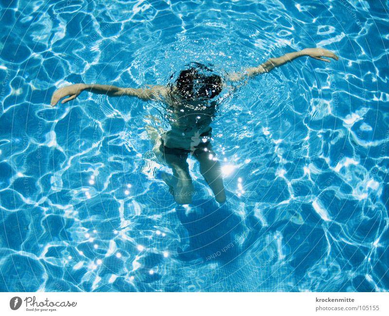 untertauchen Frau Wasser blau Sommer Ferien & Urlaub & Reisen nass Schwimmbad Freizeit & Hobby tauchen Schwimmen & Baden Hotel Bikini Erfrischung Kühlung