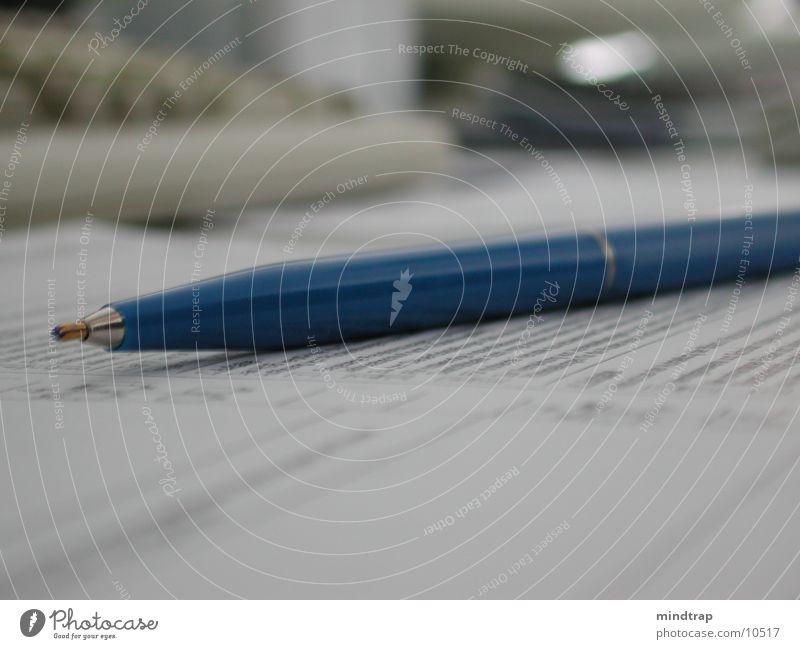 Kugelschreiber Blatt Papier Dinge Buisiness
